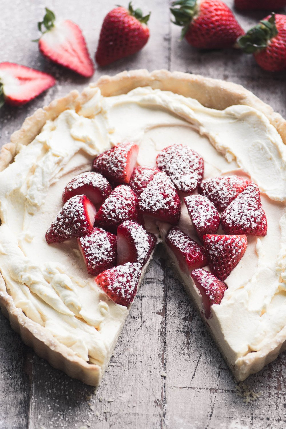 Strawberries and Cream Tart Recipe | HeyFood — heyfoodapp.com