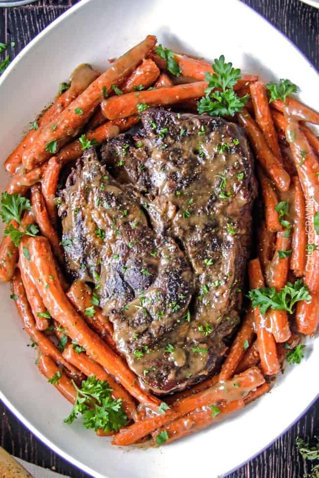 Best Pot Roast, Carrots And Gravy Recipe | HeyFood — heyfoodapp.com