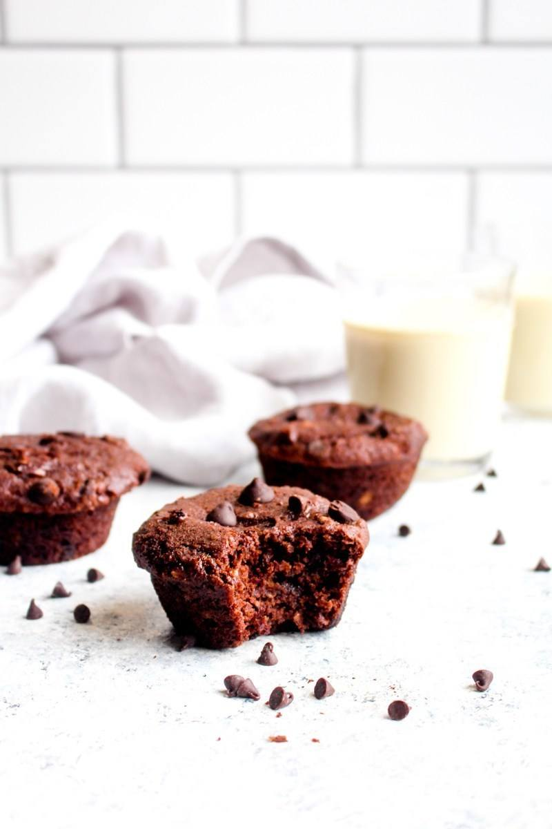 Double Chocolate Banana Bread Muffins (gluten free + vegan) Recipe | HeyFood — heyfoodapp.com