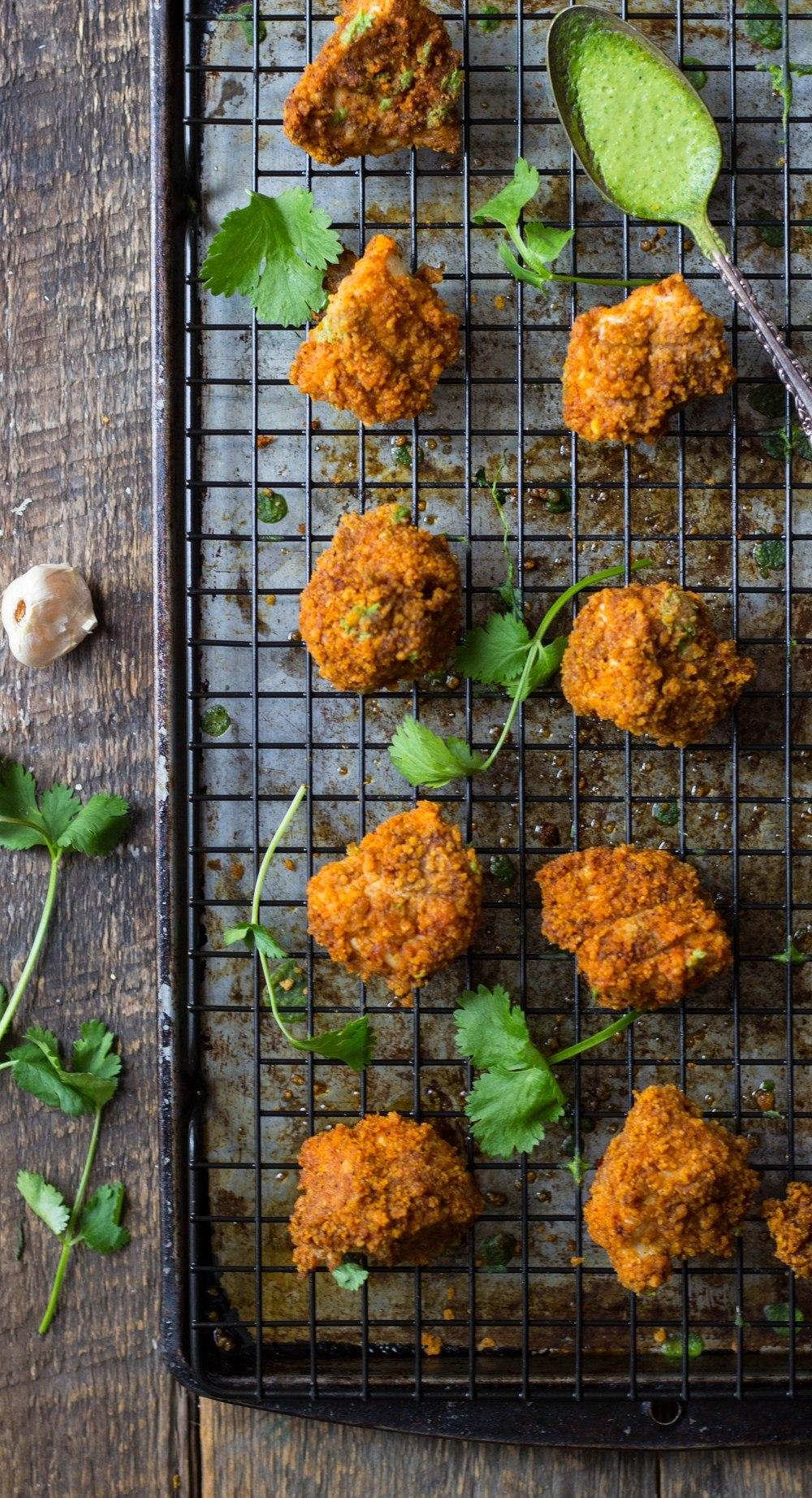Chili-Corn Crusted Chicken Nuggets with Avocado Yogurt Dip Recipe | HeyFood — heyfoodapp.com