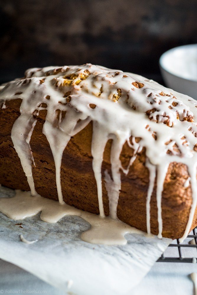 Glazed Pumpkin Bread Recipe | HeyFood — heyfoodapp.com