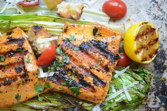 Grilled Wild Salmon Salad Recipe | HeyFood — heyfoodapp.com