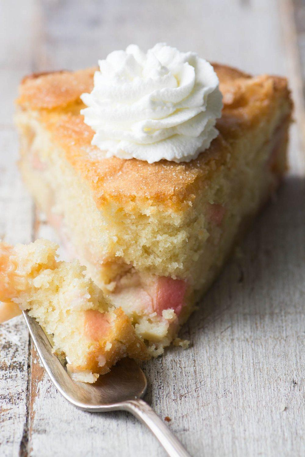 Peaches and Cream Breakfast Cake Recipe | HeyFood — heyfoodapp.com