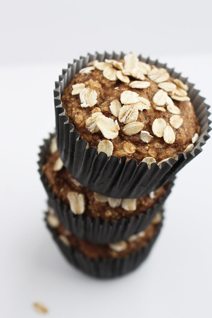 Ridiculously Easy Gluten Free Vegan Banana Oat Muffins Recipe | HeyFood — heyfoodapp.com