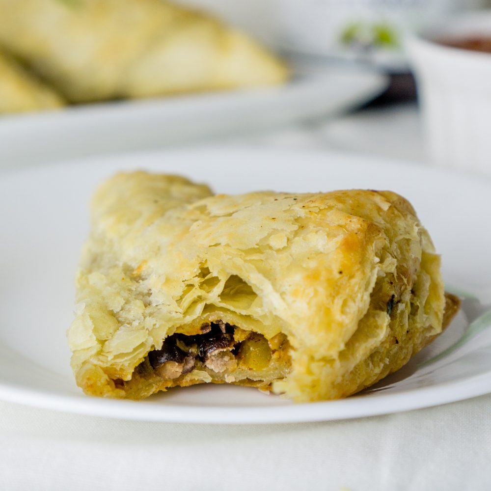 Black Bean Puff Pastry Triangles Recipe | HeyFood — heyfoodapp.com