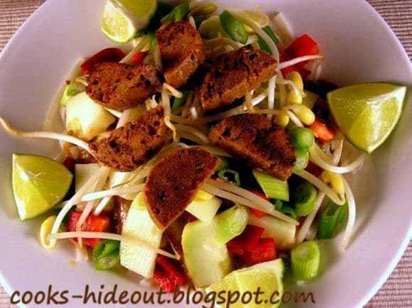 Cold Udon Noodles in Peanut sauce Recipe   HeyFood — heyfoodapp.com