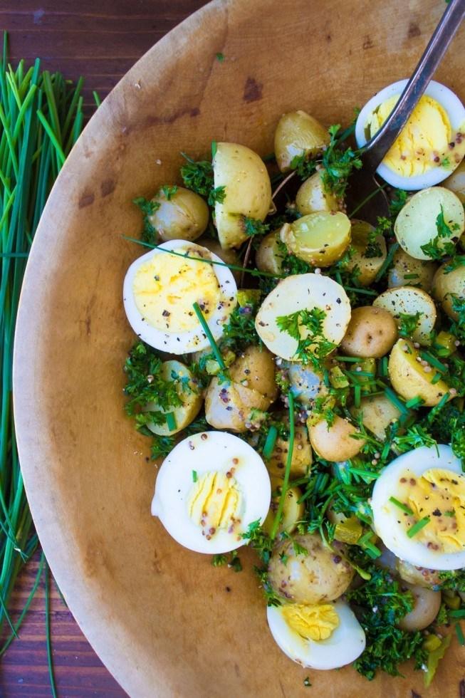 New Potato Salad with Eggs and Mustard Recipe | HeyFood — heyfoodapp.com