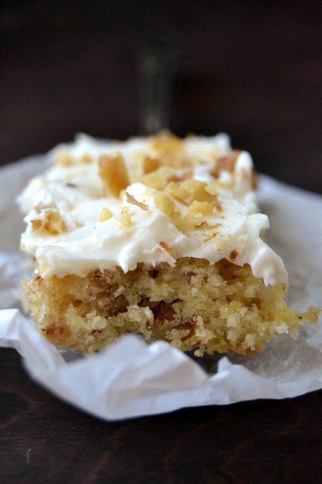 One Bowl Hummingbird Cake Bars Recipe | HeyFood — heyfoodapp.com