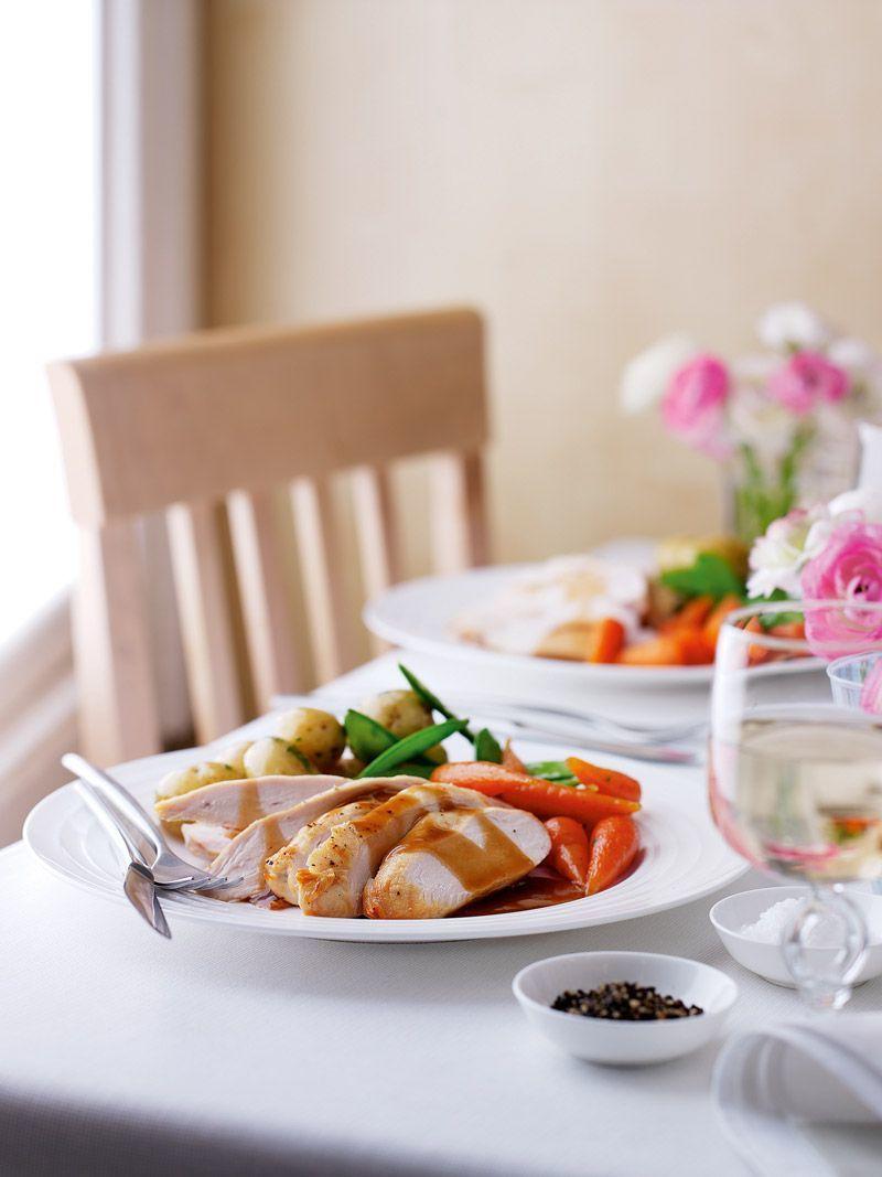 Roast Chicken Dinner With Stuffing Recipe | HeyFood — heyfoodapp.com