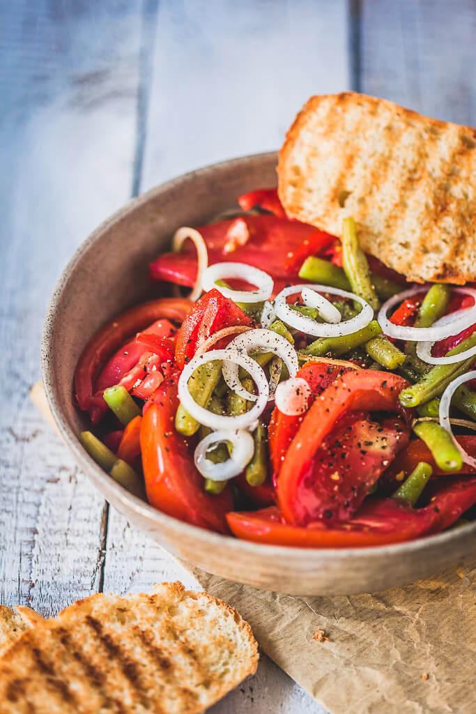 Italian Green Beans Tomato Salad  Recipe | HeyFood — heyfoodapp.com