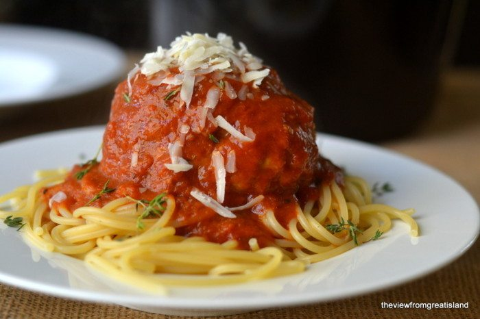 Spaghetti and Meatball Recipe | HeyFood — heyfoodapp.com