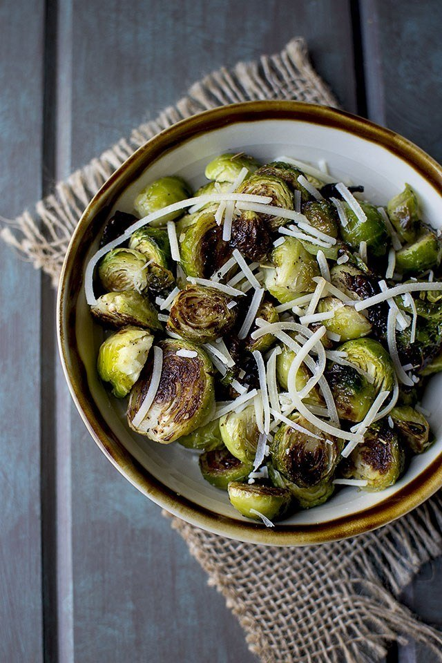 Roasted Brussel Sprouts with Parmesan Recipe | HeyFood — heyfoodapp.com
