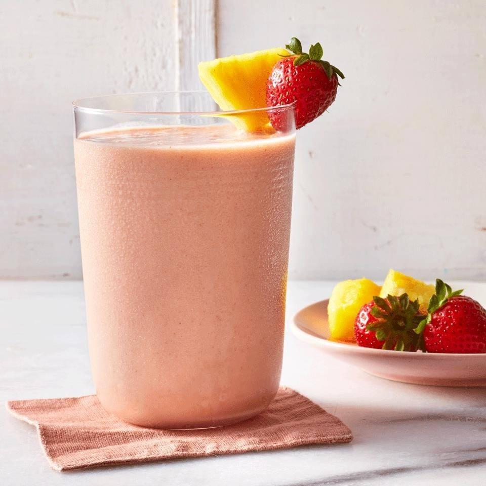 Strawberry-Pineapple Smoothie Recipe | HeyFood — heyfoodapp.com