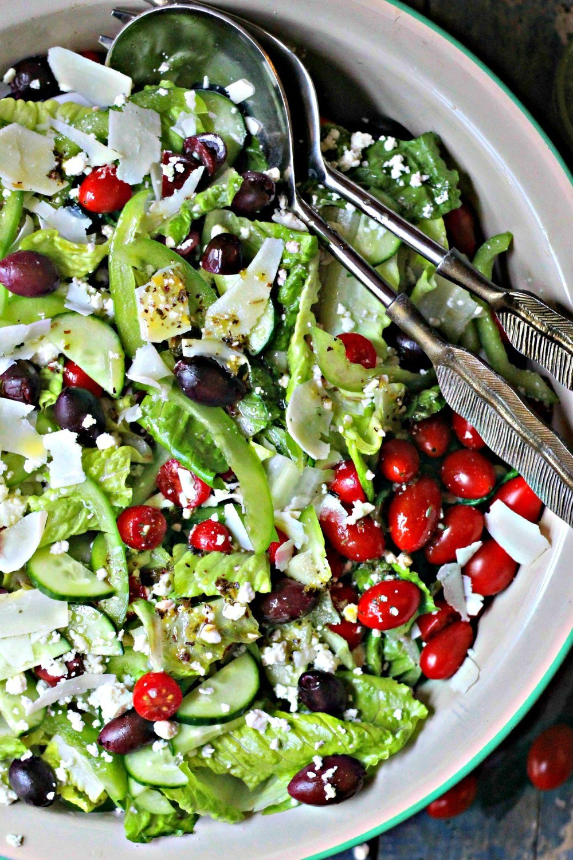 Greek Salad and Feta Vinaigrette Recipe | HeyFood — heyfoodapp.com