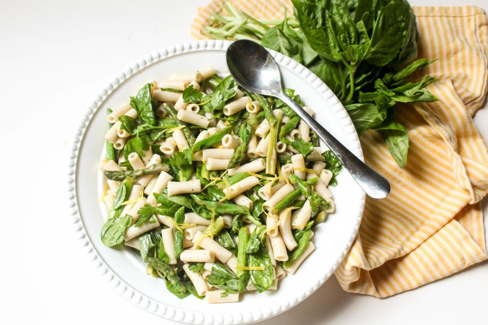 Lemon Asparagus Pasta Salad Recipe | HeyFood — heyfoodapp.com