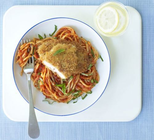 Pork Milanese With Spaghetti Recipe | HeyFood — heyfoodapp.com