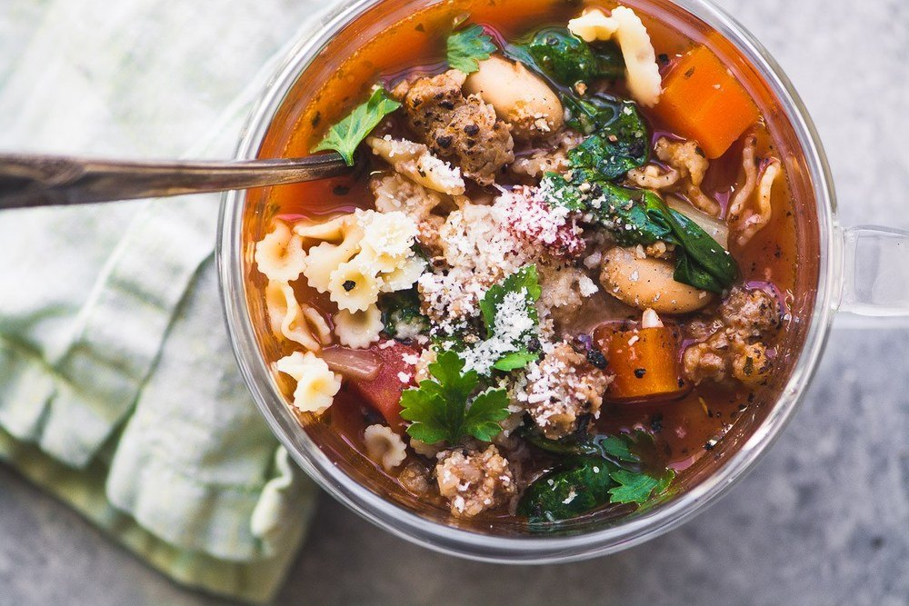 Italian Sausage and Bean Soup Recipe | HeyFood — heyfoodapp.com