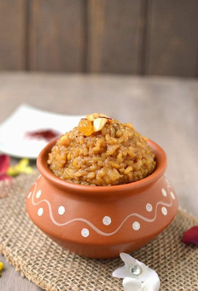 Sweet Pongal (Bellam Pongali) Recipe | HeyFood — heyfoodapp.com