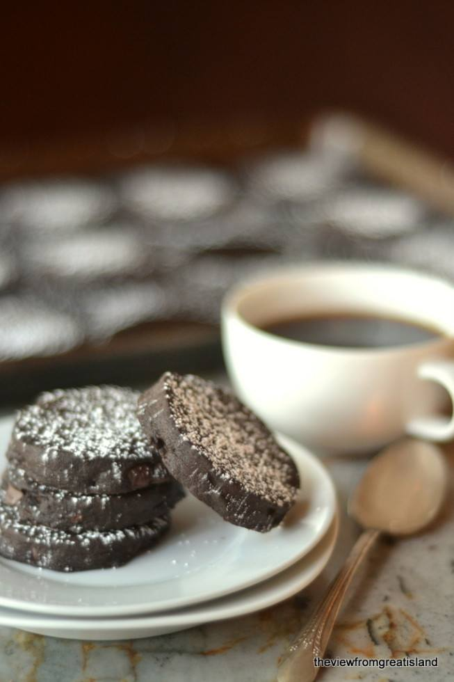 Deepest Darkest Chocolate Espresso Chip Cookies Recipe | HeyFood — heyfoodapp.com