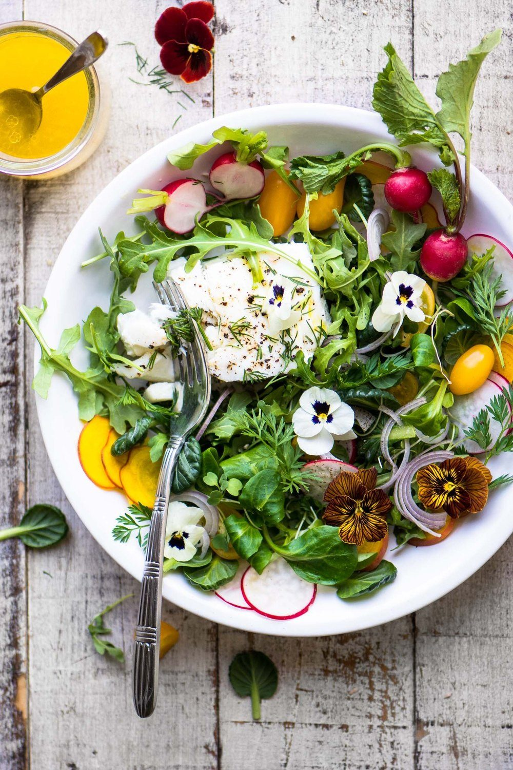 Poached Halibut Salad with Meyer Lemon Vinaigrette Recipe | HeyFood — heyfoodapp.com