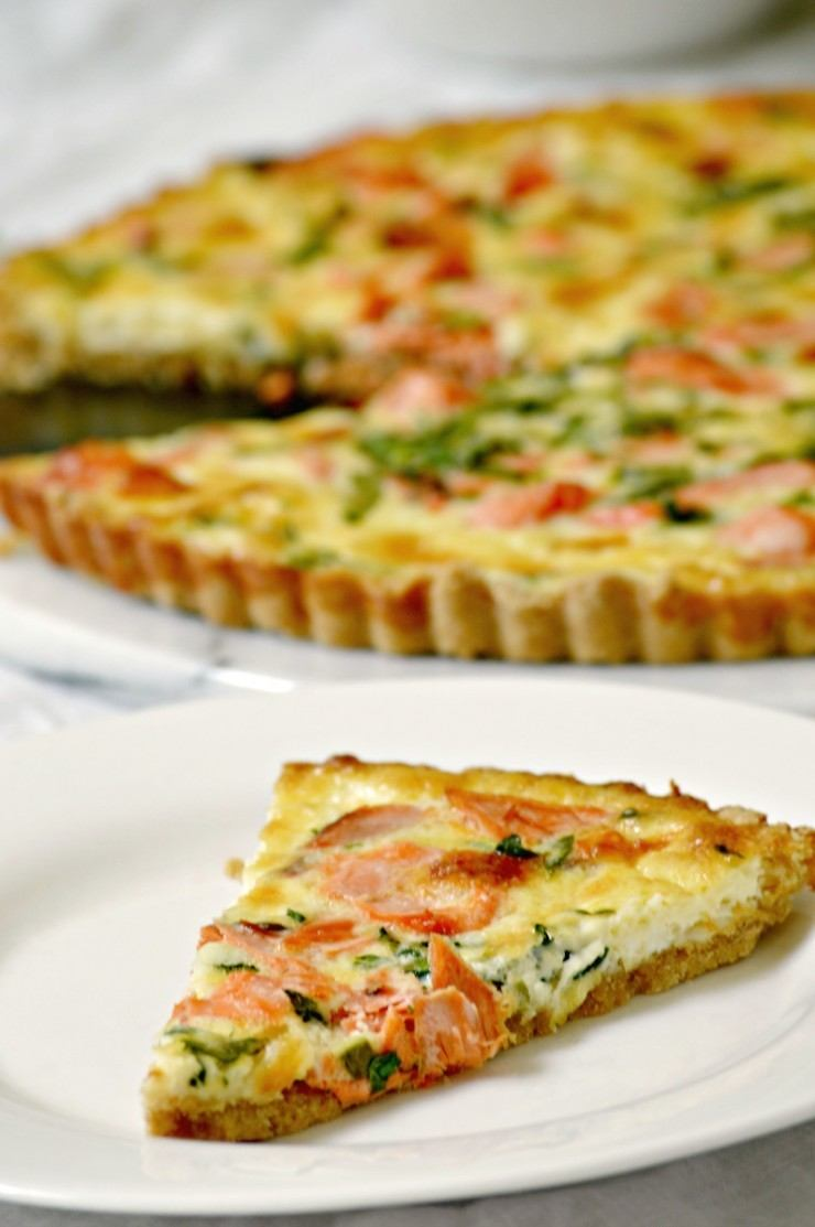 Salmon Quiche Recipe | HeyFood — heyfoodapp.com