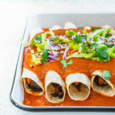 Vegan Enchiladas (Best Ever!) Recipe | HeyFood — heyfoodapp.com
