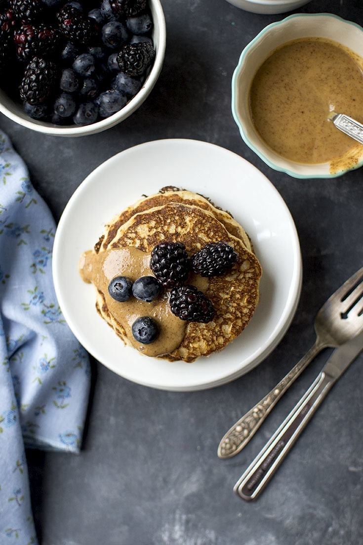 Fluffy Whole Grain Pancakes Recipe | HeyFood — heyfoodapp.com