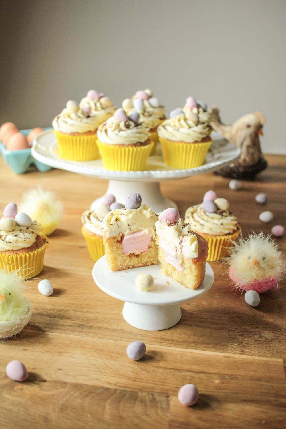 Easter Surprise Mini Egg Cupcakes Recipe | HeyFood — heyfoodapp.com