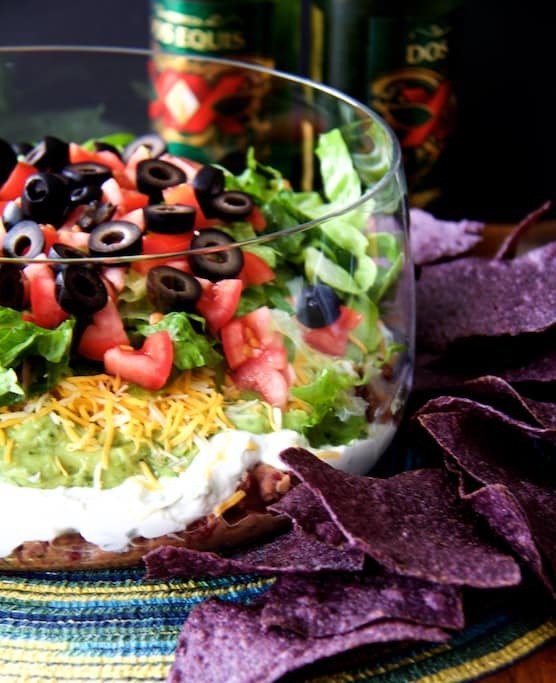 Lighter Fresher Seven-Layer Dip Recipe | HeyFood — heyfoodapp.com