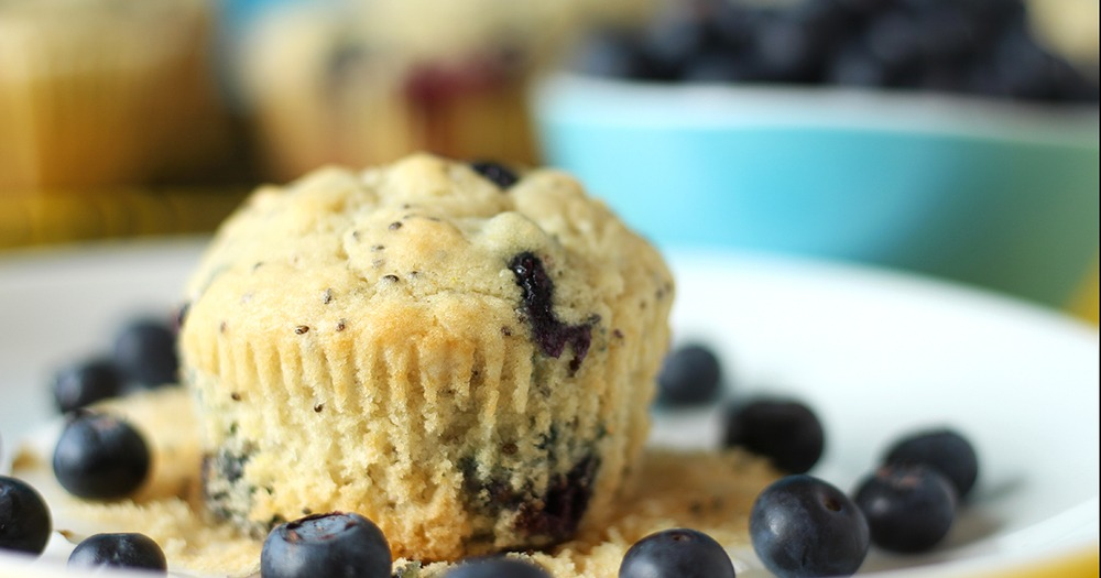 Vegan Blueberry Chia Muffins Recipe | HeyFood — heyfoodapp.com