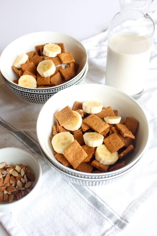 Honey Almond Cereal Squares Recipe | HeyFood — heyfoodapp.com