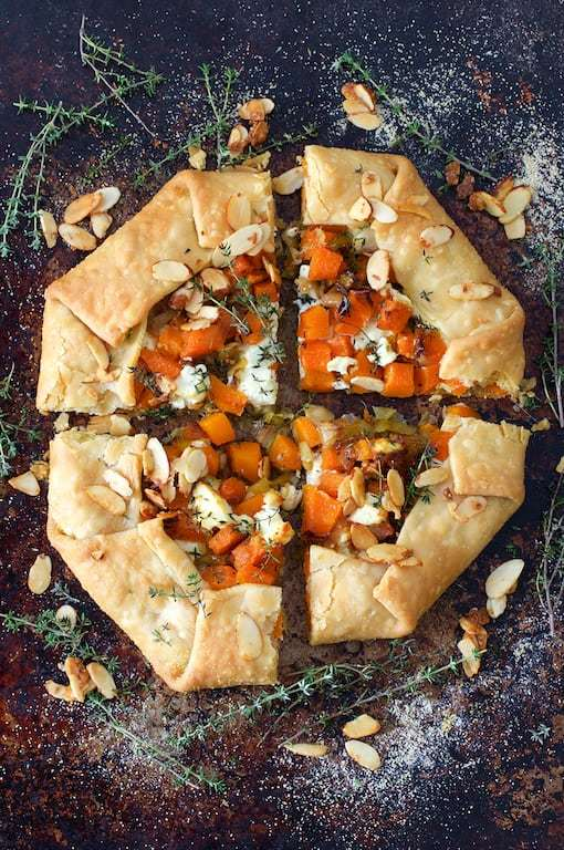 Butternut Squash Leek and Goat Cheese Galette Recipe | HeyFood — heyfoodapp.com