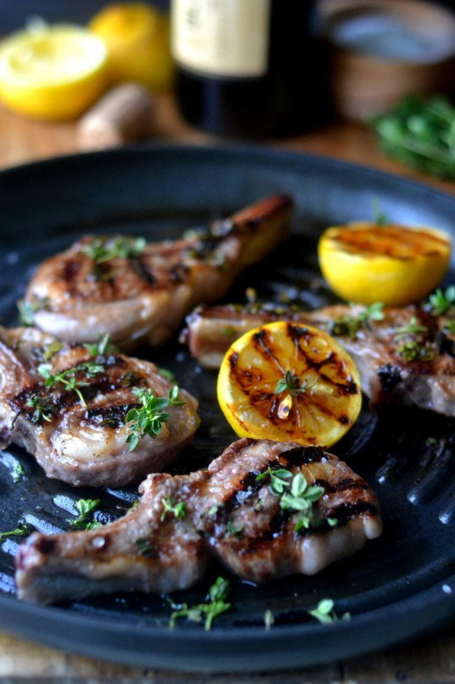 Minimal Monday: Lemon Thyme Lamb Chops Recipe | HeyFood — heyfoodapp.com