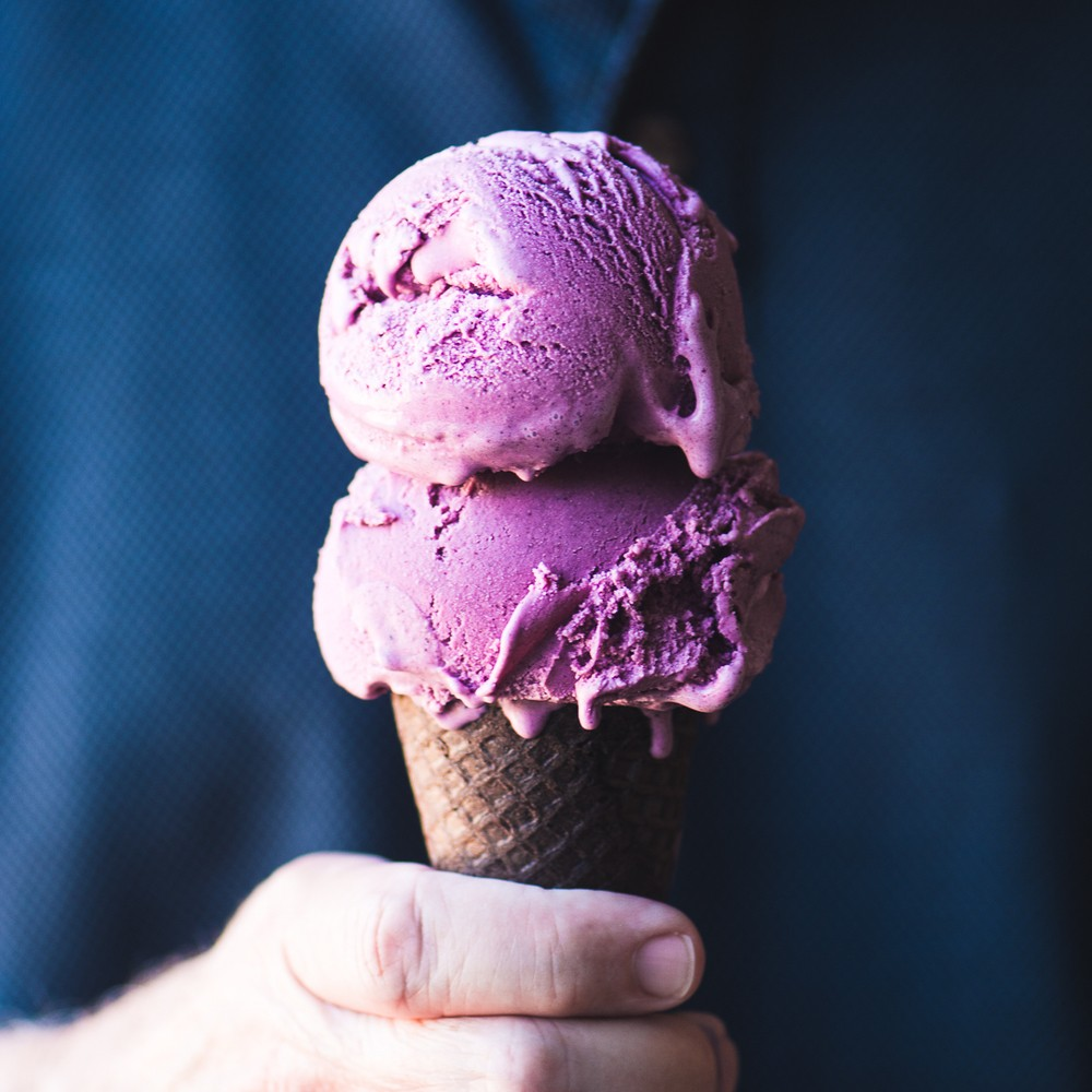 Wild Blueberry Ice Cream Recipe | HeyFood — heyfoodapp.com