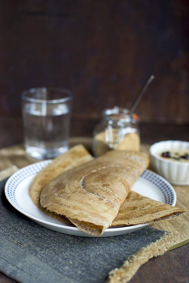 Sprouted Ragi Dosa Recipe | HeyFood — heyfoodapp.com