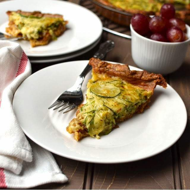 Caramelized Onion & Zucchini Quiche (with Spelt flour Crust) Recipe | HeyFood — heyfoodapp.com
