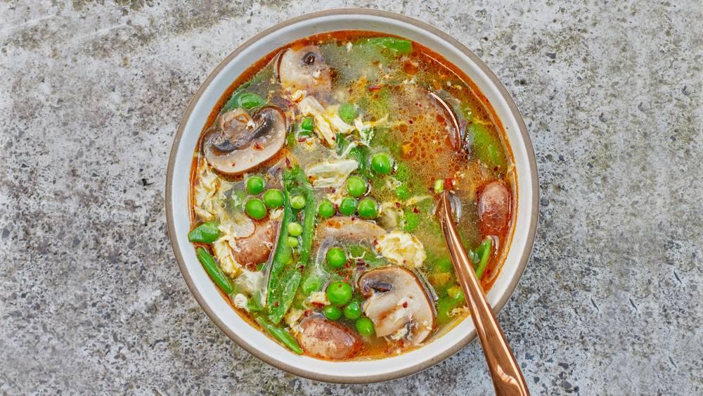 Spring Hot-and-Sour Soup Recipe | HeyFood — heyfoodapp.com