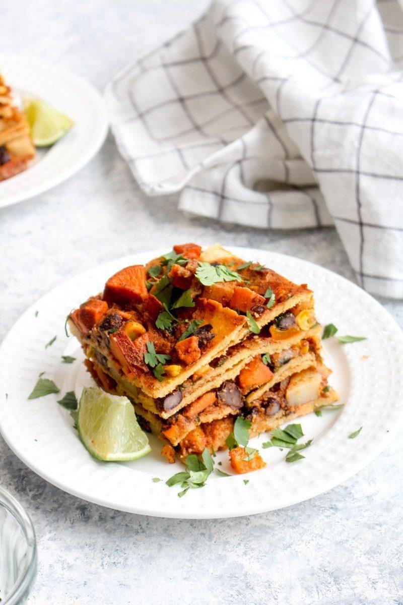 Vegan Enchilada Lasagna Recipe | HeyFood — heyfoodapp.com