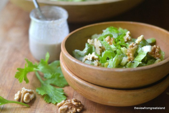 Celery Salad with Walnut Vinaigrette Recipe | HeyFood — heyfoodapp.com