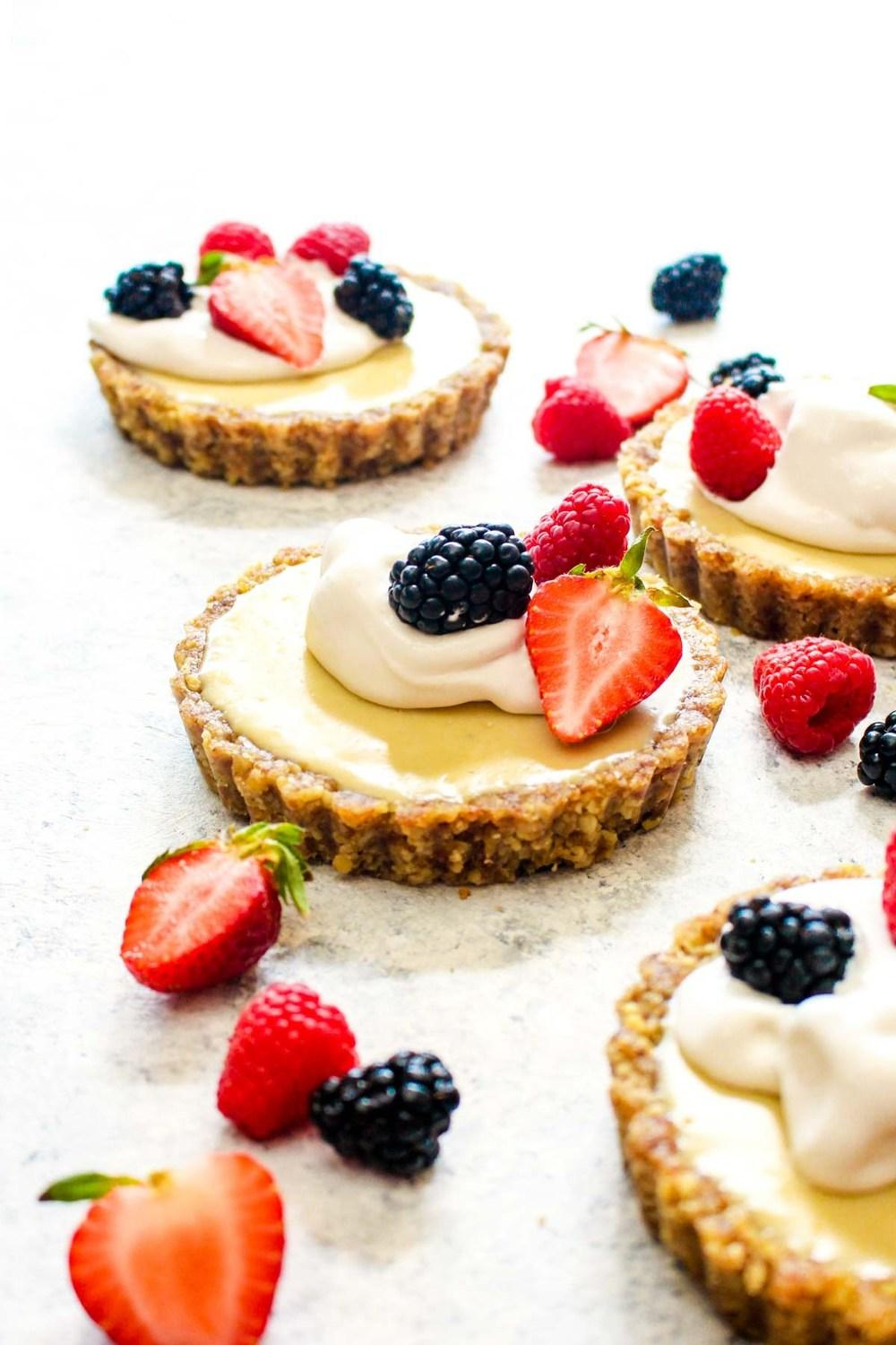 White Chocolate Lemon Cream Tarts Recipe | HeyFood — heyfoodapp.com
