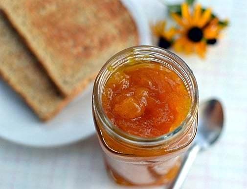 Peach-Mango Jam with Vanilla Recipe | HeyFood — heyfoodapp.com
