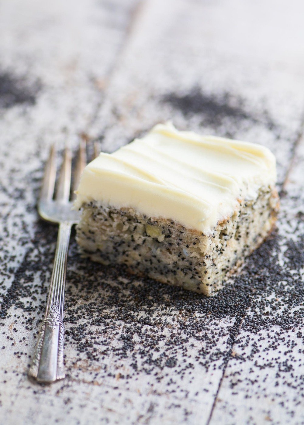 Banana Poppy Seed Cake with Lemon Buttercream Recipe | HeyFood — heyfoodapp.com