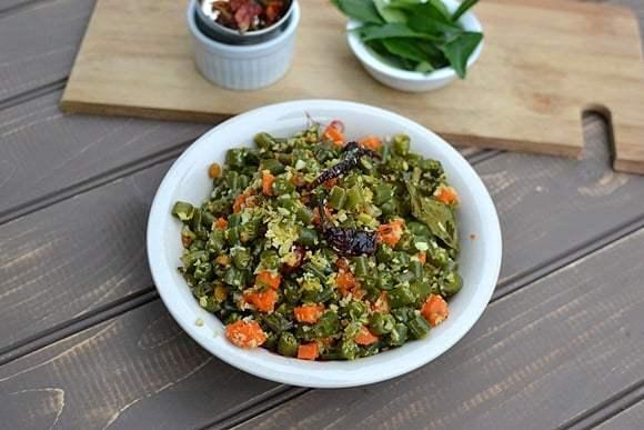 Green Beans & Carrot Curry with Coconut Recipe   HeyFood — heyfoodapp.com