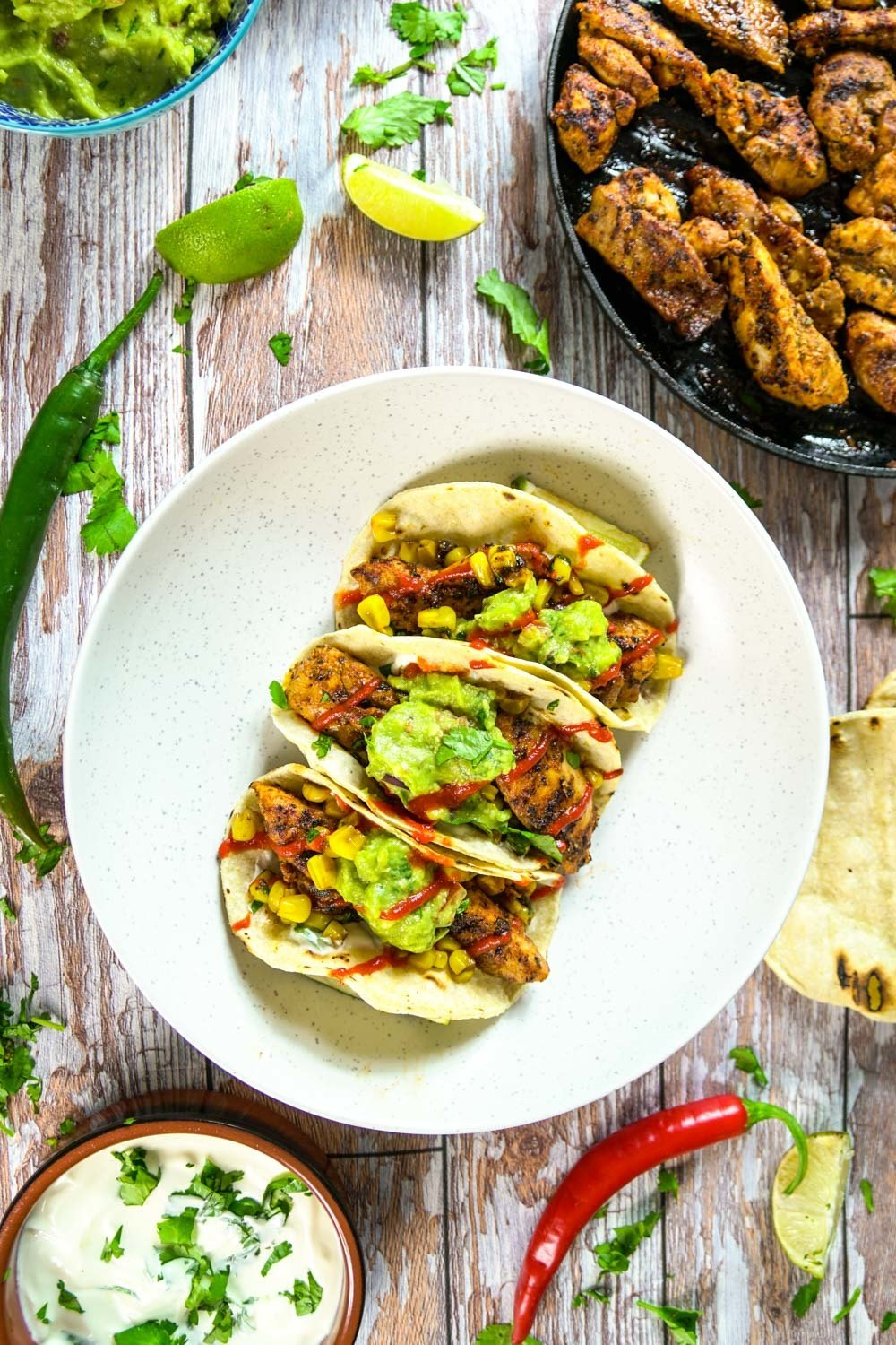 Super Spicy Chicken Tacos Recipe | HeyFood — heyfoodapp.com