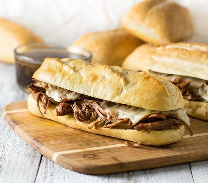Easy Crock Pot French Dip Sandwiches Recipe | HeyFood — heyfoodapp.com
