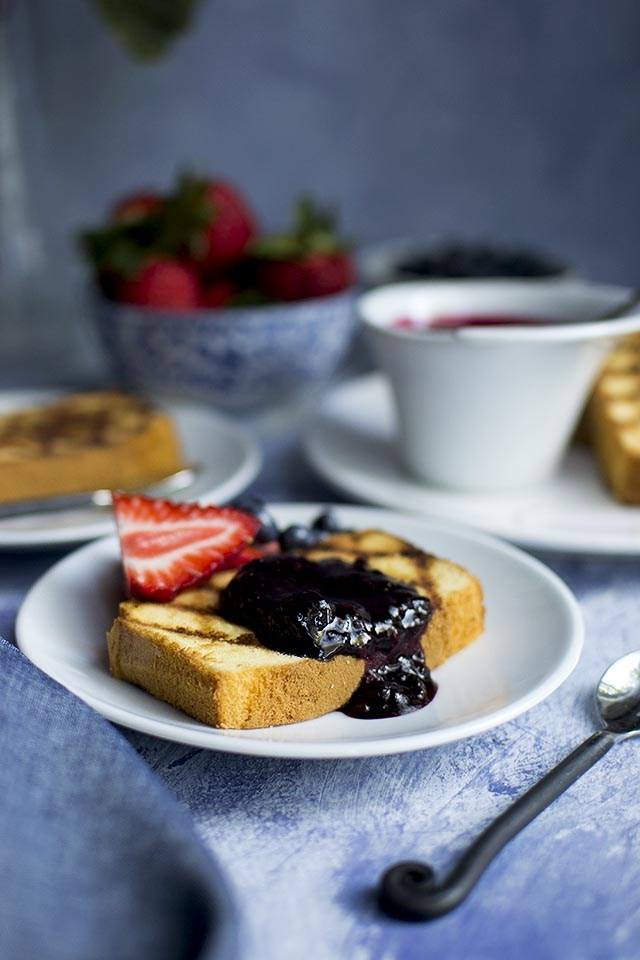 Grilled Pound Cake with Berries Recipe Recipe | HeyFood — heyfoodapp.com