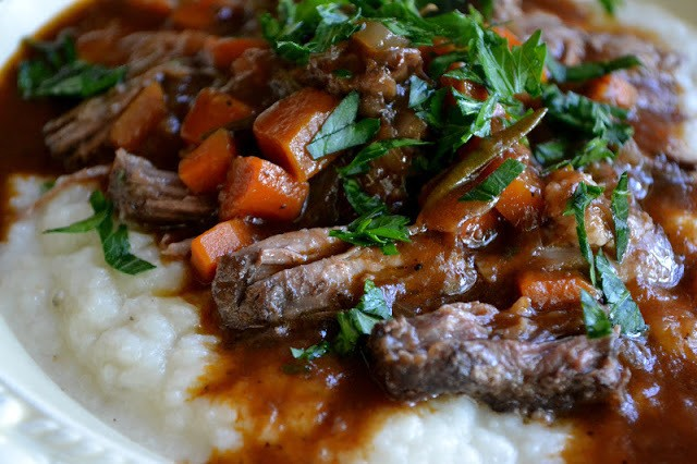 Braised Short Ribs over Turnip Puree Recipe | HeyFood — heyfoodapp.com