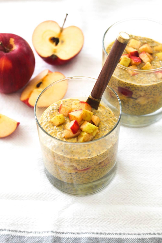 Pumpkin Spice Chia Pudding and Apple Compote Recipe   HeyFood — heyfoodapp.com