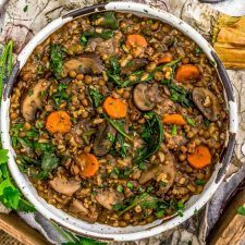 French Lentil Rice Mushroom Stew Recipe | HeyFood — heyfoodapp.com