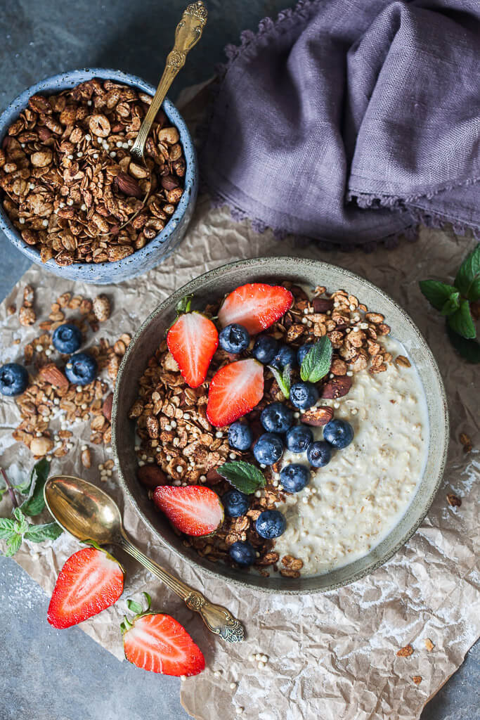 Crunchy Cacao Granola {Vegan} Recipe | HeyFood — heyfoodapp.com